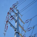 Double Circuit Towers 33kv Transmission Line Pole Tubular Electric Galvanized Steel Power Monopole