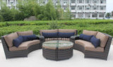 Patio Furniture Rattan Modular Sofa Set with Table 0088