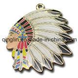 Custom Indian Head Metal Pet Tag with Ethnic Characteristics (QL-GP-0017)