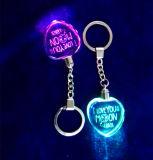 Heart Shape Crystal Keychain, LED Light Glass Keychain for Gifts