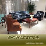 Good Seat Feeling Living Room Classic Leather Sofa (A38) !
