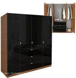 Modern Wooden 4 Doors Wardrobe Design (HF-EY08313)