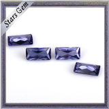 Top Quality Voilet Rectangle Princess Cut CZ for Fashion Jewelry