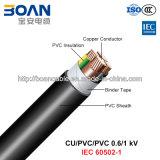 Cu/PVC/PVC, LV Power Cable, 0.6/1 Kv (IEC 60502-1)