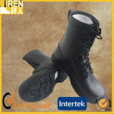 Black Genuine Cow Leather Cheap Fashionable Military Tactical Combat Boot