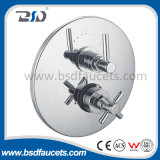 Brass Chrome Twin Handle Control Concealed Thermostatic Shower Valve