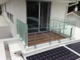 Outdoor Balustrade with Safety Glass Panel