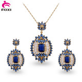 Yellow Gold Plated Bridal Cubic Zirconia Stone Jewelry Set