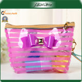Pink Reusable Household Bowknot PVC Cosmetic Fashion Bags
