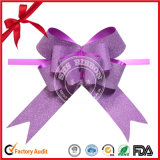 Fashion OEM Poly Glitter Butterfly Pull Ribbon Bows