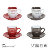 Sweet Lover Gift 3oz Cups and Saucers