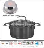 Staight Impact Bottom Stainless Steel Saucepot Casserole