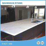 White Calacatta Quartz Stone for Kitchen Counters
