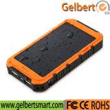 Waterproof Li-Polymer Battery RoHS Solar Cell Phone Charger Power Bank