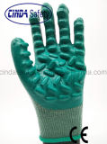 Anti-Vibration Cotton Liner Latex Coated Safety Work Glove