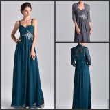 Blue Prom Party Dresses Sleeveless Mother Evening Dress Y36