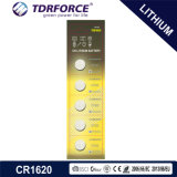 3V CR1620 Non-Rechargeable Button Cell Lithium Battery with Ce for Toy