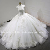 V-Neck Quinceanera Ball Gowns Beaded Real Photos Crystal Lace Puffy Wedding Dresses Z3013