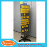 Floor 3 Sides Rotating Metal Peg Hook Display Rack with Printing