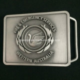 Custom Zinc Alloy Belt Buckel with Antique Nickel Finish for Business Gift