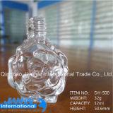 Rose Design Nail Polish Bottle / Personal Care Glass Bottle