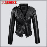 New Arrived Women′pu Jacket with Good Quality