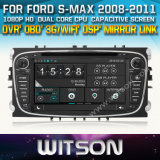 Witson Car DVD for S-Max 2008-2011 Car DVD GPS 1080P DSP Capactive Screen WiFi 3G Front DVR Camera