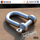 Stainless Steel AISI316 Screw Pin D Shackle