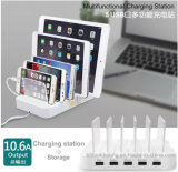 Multi-Function 10.6A 5 Ports Desktop USB Charging Station Dock with Stand Holder