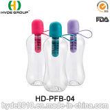 750ml 100% New Material Plastic Filter Bobble Water Bottle (HD-PFB-04)