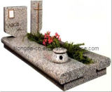 European Style Grey Granite Tombstone & Monument