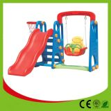 2014 New Style School Outdoor Plastic Slide with Swing