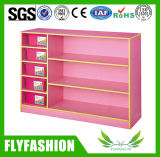 Pink Color Kids Toy Wooden Cabinet Kindergarten Furniture Sf-117c