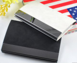 High Quality Stainless Steel and Leather Name Card Box