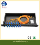 1X8 Fiber Optical PLC Splitter FC 2.0mm ABS Box