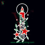 Christmas Candle Light LED Pole Motif for Christmas Decoration