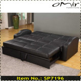 3 Seat Leather Pull out Sofa Bed