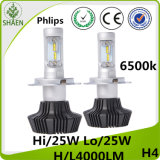 H4 H/L Philips LED Car Headlight 8000lm 6500k