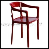 Heavy Duty Red Metal Arm Chair with Wood Legs (SP-EC798)