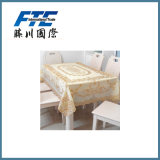 Golden Flower Blossom Pattern Printed Table Cloth