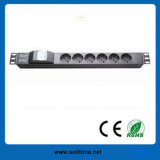 PDU, Italy Plug Socket, 6-Way Socket, 16A, Size 1u