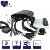 8-CH Vehicle Mobile Digital Video Recorder with a Hard Disk Built-in GPS Module
