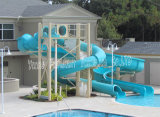 Private Swimming Pool Fiberglass Water Slide for Home