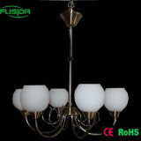 White Glass Modern European Style Chandelier and Pendant Light (P-8123/6)