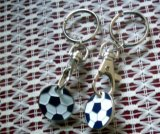 Custom Metal Epoxy Keychain for Football World Cup St-K01)