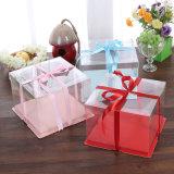 OEM eco-friendly folding packing food grade plastic cake box(pet box)