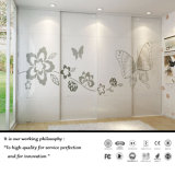 High Glssy White UV Sliding Door Withe Flower Patten (FY2389)