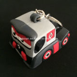 Custom High Quality PVC 3D Cute Truck Keyring for Promotion