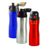 Sport Bottle Made of Stainless Steel Material and Plastic