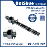 M6X100 Carbon Steel Strong Fastener Wedge Anchor